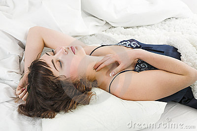 Sleeping young woman