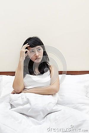 Sleepless woman