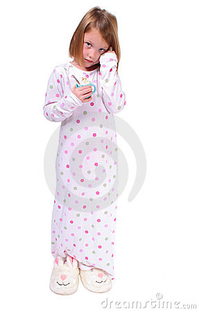 Free Sleepy Young Girl Royalty Free Stock Images - 3500359