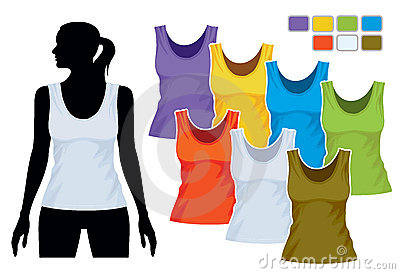 Sleeveless Shirt Template Stock Image - Image: 15987991