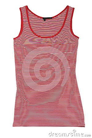 Sleeveless sports shirt