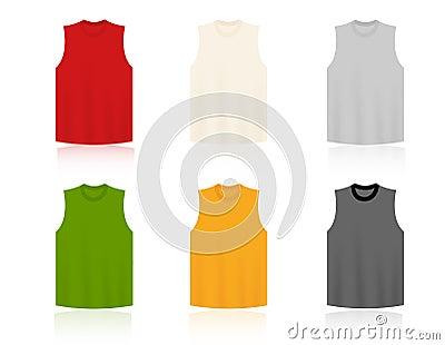 Sleeveless T-shirts blank templates