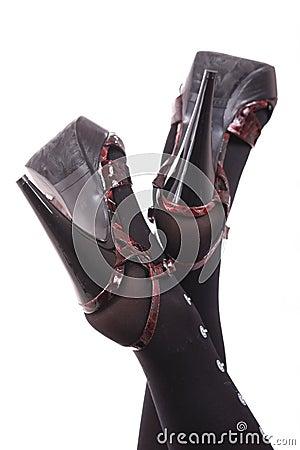 Slender women s legs