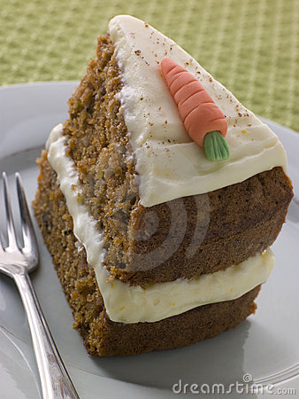 Slice Of American Carrot Cake