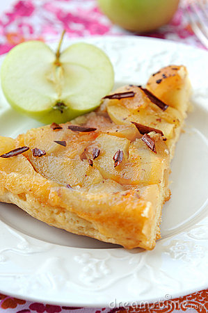 Slice of apple pie