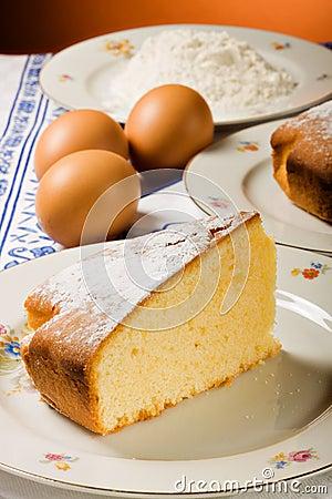 A slice of cake.