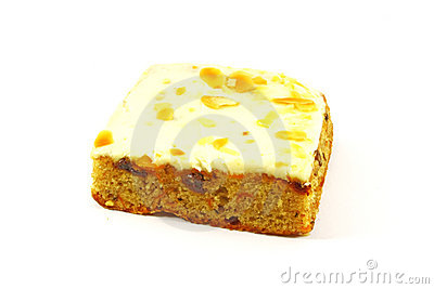 Slice of Carrot Cake Square