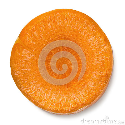 Slice of Carrot Isolated