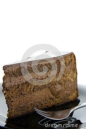 Slice of chocolate cake