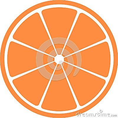 Slice of citrus fruit .