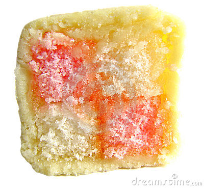 Slice of delicious battenberg cake