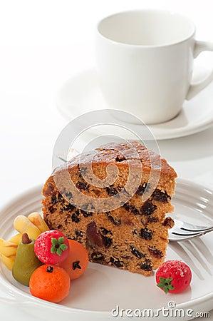 Slice Of Dundee Cake