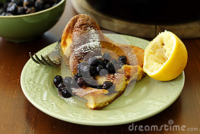 A slice of dutch baby pancake