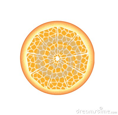 Slice of fresh orange