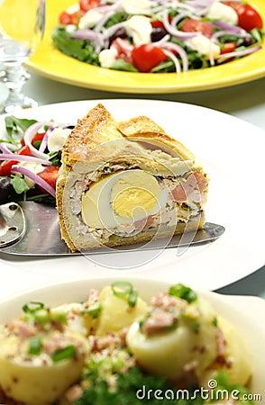 Slice Of Ham And Egg Pie