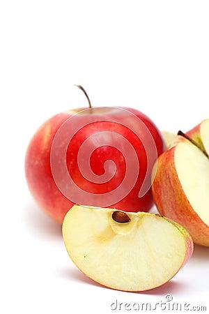 Slice of juicy apple