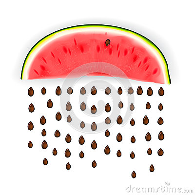 Slice of nice fresh watermelon