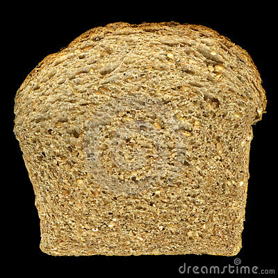 Slice of nine grain bread