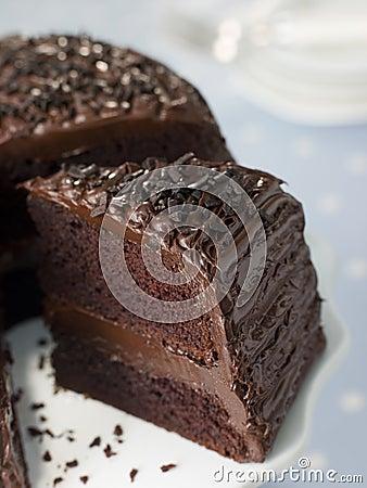 Free Slice Of Chocolate Fudge Cake Stock Image - 6878821