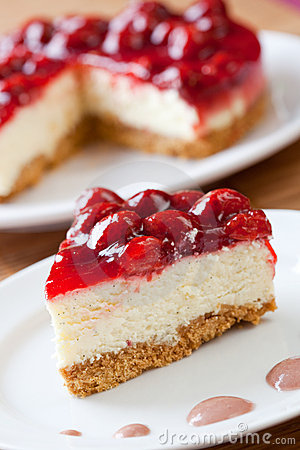 Free Slice Of Delicious Strawberry Cheese Cake Royalty Free Stock Image - 9921206