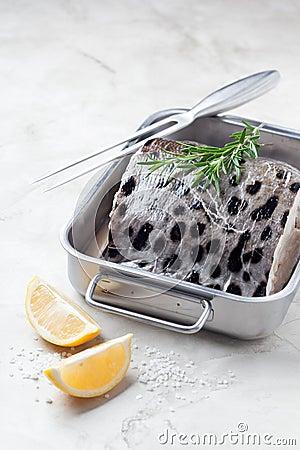 Free Slice Of Fresh Fish (Wolffish) Royalty Free Stock Photo - 55810045