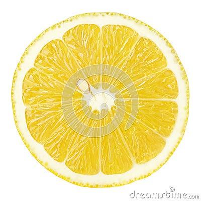 Free Slice Of Lemon Citrus Fruit Isolated On White Royalty Free Stock Photos - 86582448