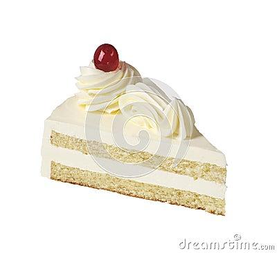 Free Slice Of White Cream Cake Royalty Free Stock Images - 8816439