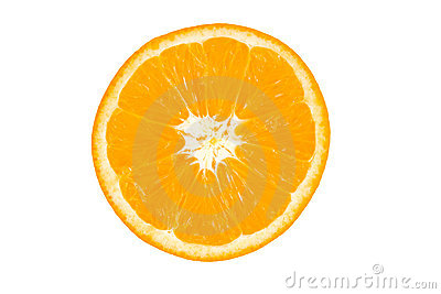 Slice of orange.