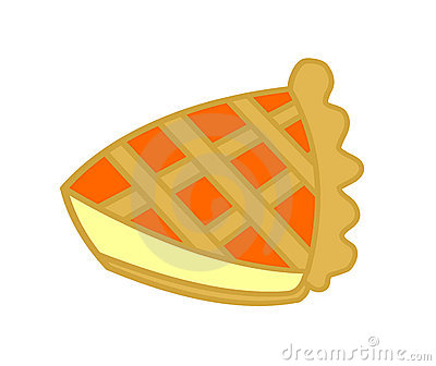 Slice of orange jam tart