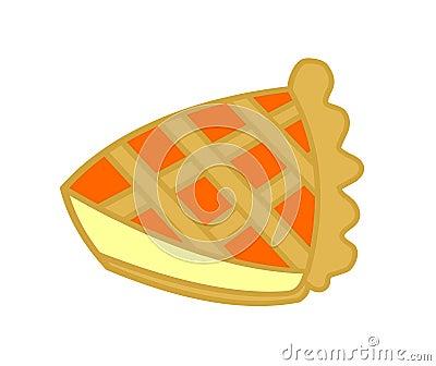 Slice of orange jam tart