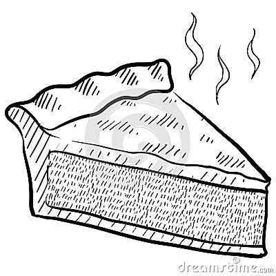 Slice of pie sketch