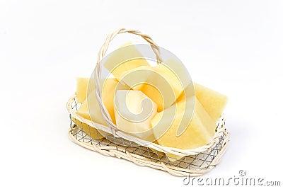 Slice potato in basket