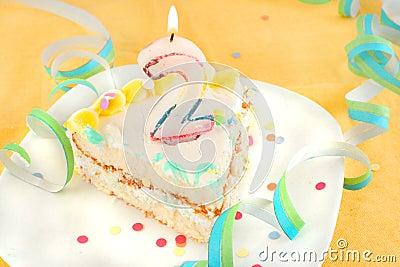 Slice second birthday cake