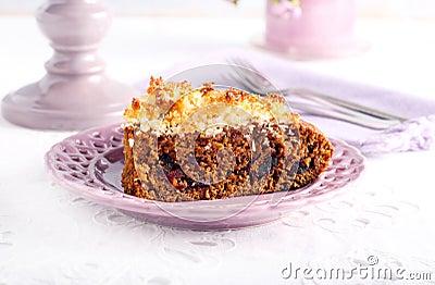 Slice of sticky date cake
