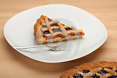 Slice of Strawberry Jam Tart