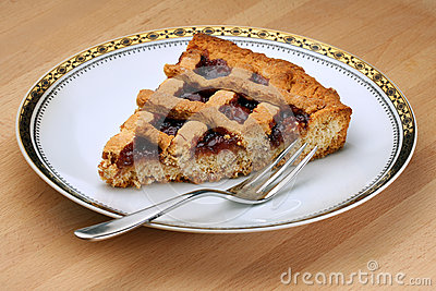 Slice of Strawberry Jam Tart