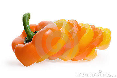Slice of sweet pepper