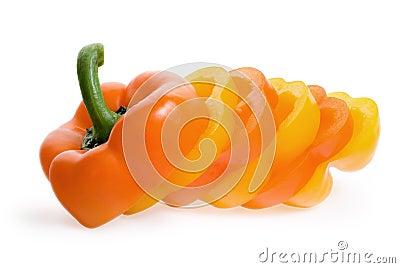 Slice of sweet pepper