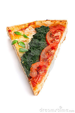 Slice of vegetable pizza