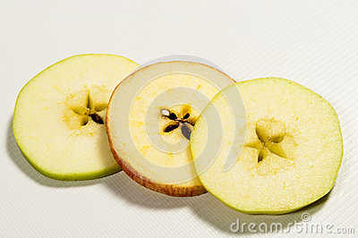 Sliced Apple With Pips Star Centre