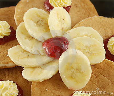 Sliced Banana With Jam
