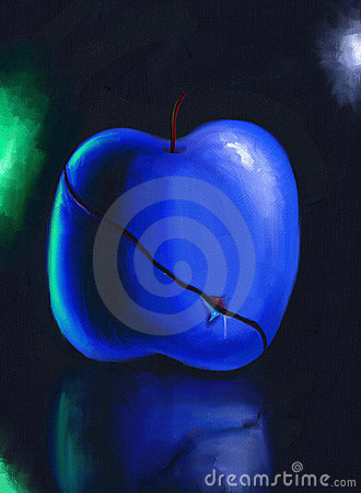Sliced Blue Fruit - Digital Painting