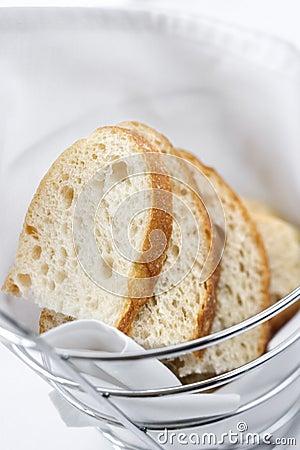 Sliced Bread in Wire Basket