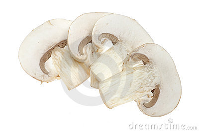 Sliced button mushrooms