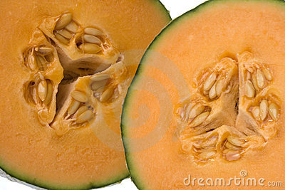 Sliced Canteloupe Melons