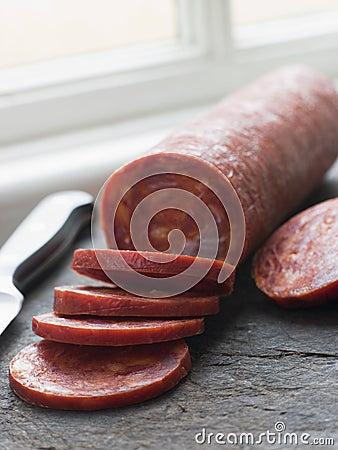 Free Sliced Chorizo Sausage Stock Image - 5950591