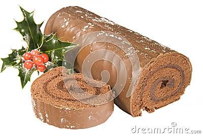 Sliced Christmas Yule log