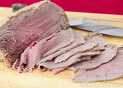 Sliced cold beef