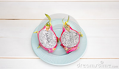Sliced Dragon Fruit On Plate Free Public Domain Cc0 Image