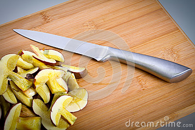 Sliced Forest Mushrooms On The Cutting Board Stock Images - Image: 27318024